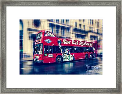 hop on hop off  through NYC Framed Print by Hannes Cmarits