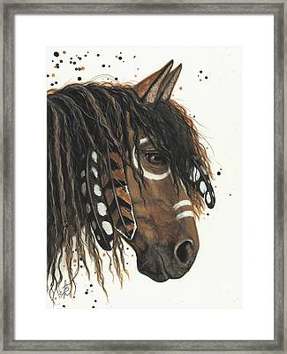 Hopa Majestic Mustang Series 47 Framed Print by AmyLyn Bihrle
