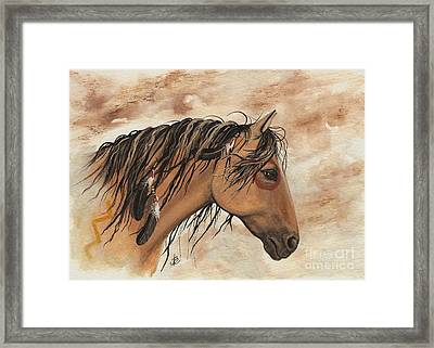 Hopa - Majestic Mustang Series Framed Print by AmyLyn Bihrle
