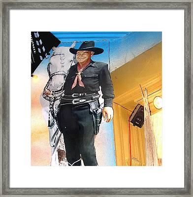 Hopalong Cassidy Cardboard Cut-out Tombstone Arizona 2004 Framed Print