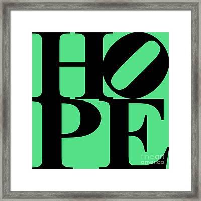 Hope 20130710 Black Green Framed Print