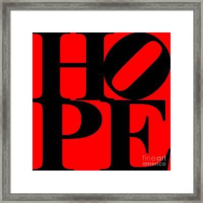 Hope 20130710 Black Red Framed Print