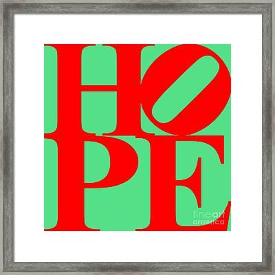 Hope 20130710 Red Green Framed Print