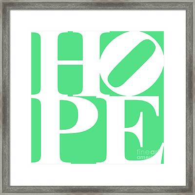 Hope 20130710 White Green Framed Print by Wingsdomain Art and Photography