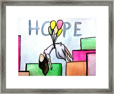 Hope Afloat  Framed Print by Kiara Reynolds