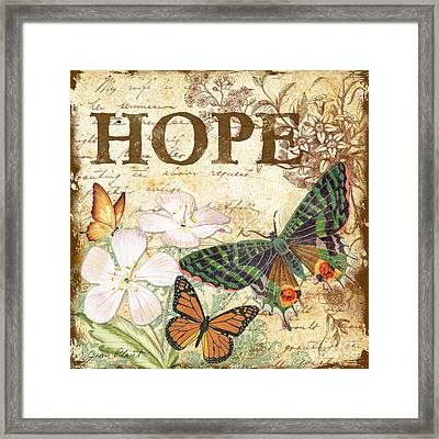 Hope And Butterflies Framed Print by Jean Plout