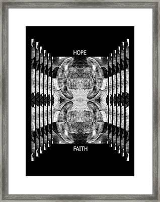 Hope And Faith Echo Yoga Crow Pose Framed Print by Deprise Brescia