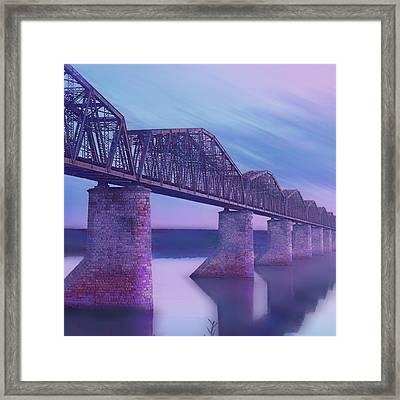 Hope Bridge Soft Framed Print by Tony Rubino