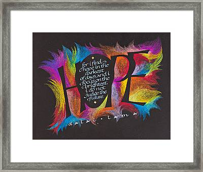 Hope Framed Print by Claire Griffin