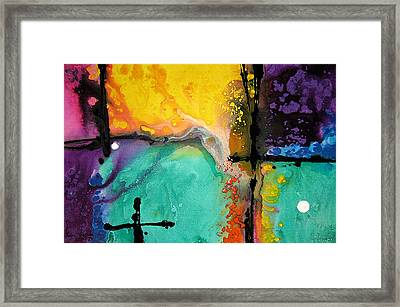 Hope - Colorful Abstract Art By Sharon Cummings Framed Print by Sharon Cummings