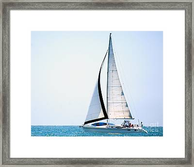 Hope Floats Sailboat From The Book My Ocean Framed Print by Artist and Photographer Laura Wrede