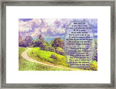 Hope For Every Man Framed Print