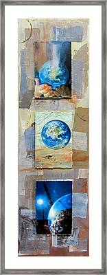 Hope For Humanity Framed Print by Anita Burgermeister