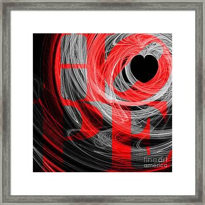 Hope Fractal Heart 20130710 V2b Framed Print