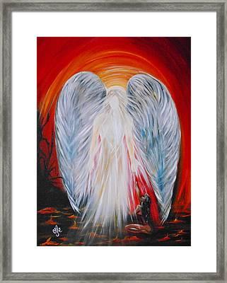 Hope In Hell - Michael Archangel Series Framed Print
