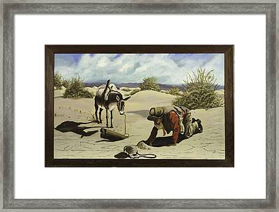 Hope In The Desert Framed Print by Clifford Cox