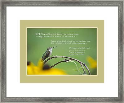 Hope Inspirational Art Framed Print