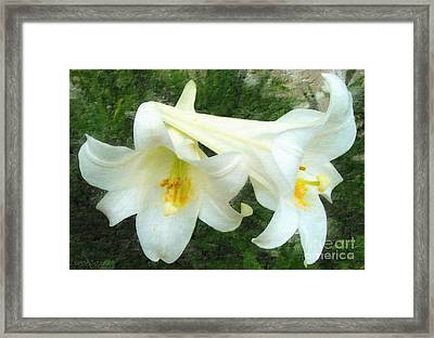 Framed Print featuring the digital art Hope Is Risen by Lianne Schneider