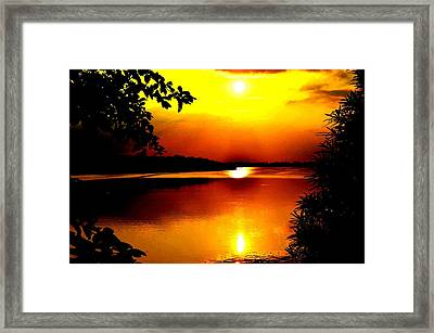 Hope Is Still There Sunset Framed Print by Deepti Chahar