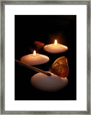 Hope Lights A Flame Framed Print