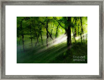 Hope Lights Eternal - A Tranquil Moments Landscape Framed Print by Dan Carmichael