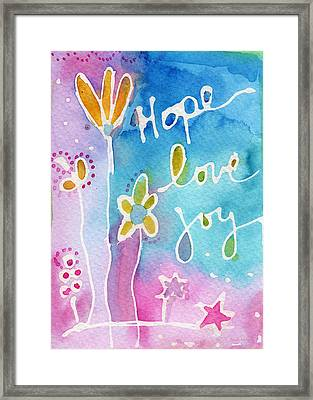 Hope Love Joy Framed Print