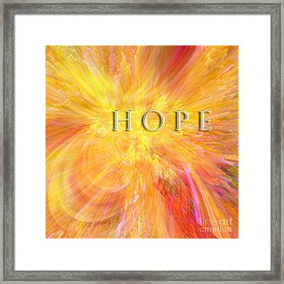 Hope Framed Print by Margie Chapman