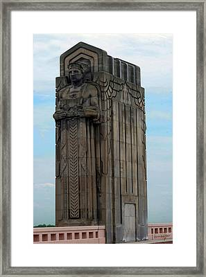 Hope Memorial Bridge Guardian Framed Print by Terri Harper