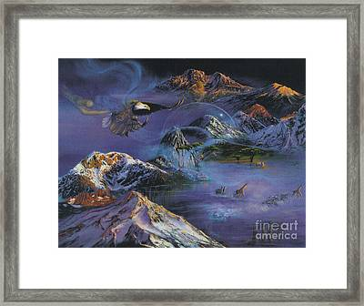 Framed Print featuring the painting Hope Rising by Jeanette French