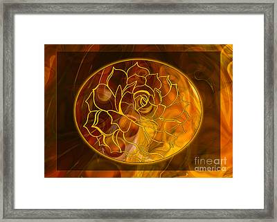 Framed Print featuring the digital art Hope Springs Eternal Abstract Healing Art by Omaste Witkowski