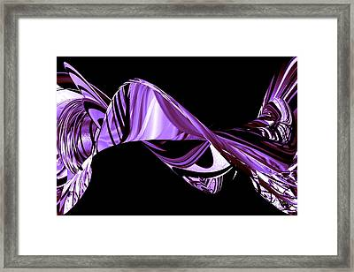 Hope Springs Eternal In Twists And Turns Of Purple Framed Print