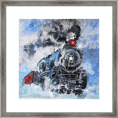 Hope Train  Framed Print by Katia Ramirez