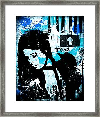 Hope Turquoise Framed Print by Melissa Smith