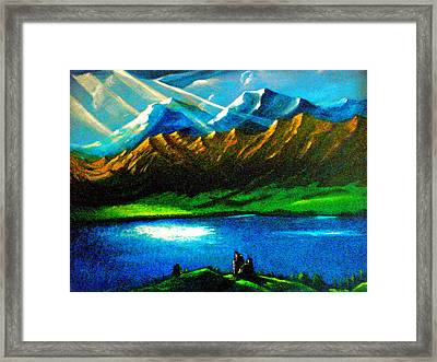 Hope Upon The Ruins Framed Print by Miquelon Gray