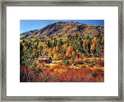 Hope Valley Fall Color Framed Print by Scott McGuire