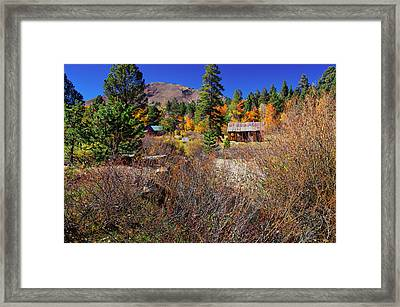 Hope Valley Fall Colors Framed Print by Scott McGuire