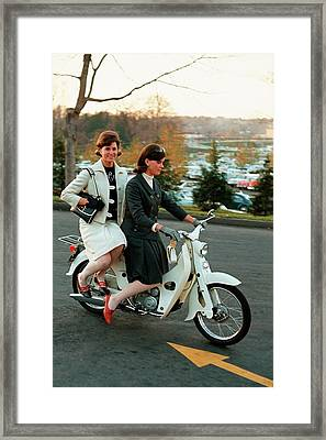 Hope Whittier And Andrea Kruse In Latest Fashion Framed Print