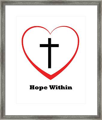 Hope Within Framed Print by Stephanie Grooms