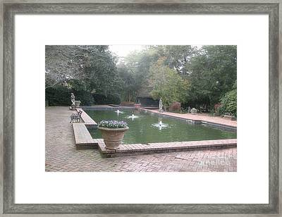 Hopeland Gardens Fountain - Aiken South Carolina Framed Print by Kathy Fornal