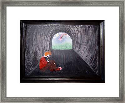 Hopeless Hobo Framed Print by Yvonne  Kroupa
