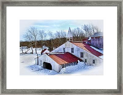 Hopewell Furnace Framed Print by Carolyn Derstine