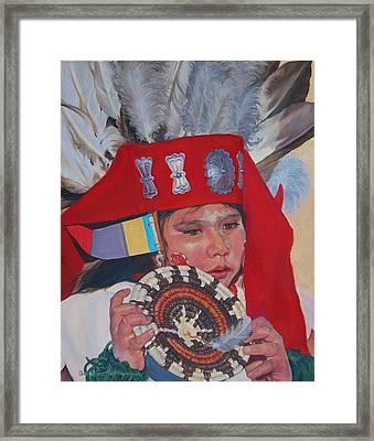 Hopi Basket Dancer Framed Print