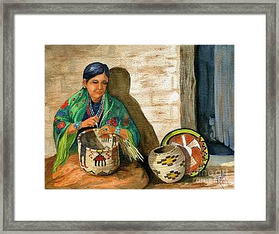 Hopi Basket Weaver Framed Print by Marilyn Smith