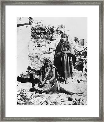 Hopi Basket Weavers, C1900 Framed Print