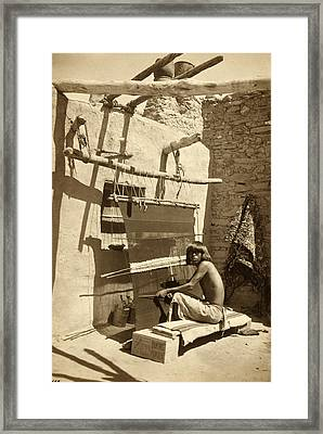 Hopi Blanket Maker, C. 1899 Framed Print