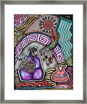 Hopi Corn Festival Framed Print by John  Fitzgerald