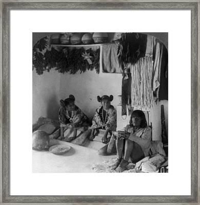 Hopi Grinding Corn, C1903 Framed Print