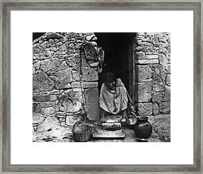 Hopi Grinding Grain, 1895 Framed Print by Granger