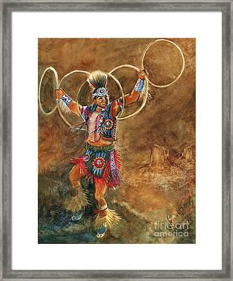 Hopi Hoop Dancer Framed Print by Marilyn Smith
