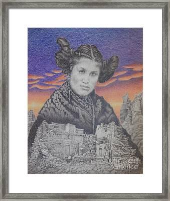 Hopi Maiden Framed Print by Mark S  Lee